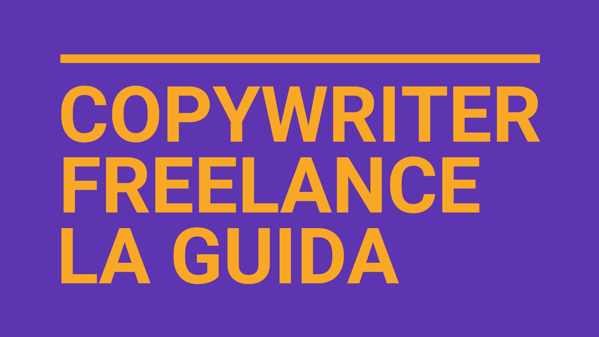 copywriter freelance chi è cosa fa