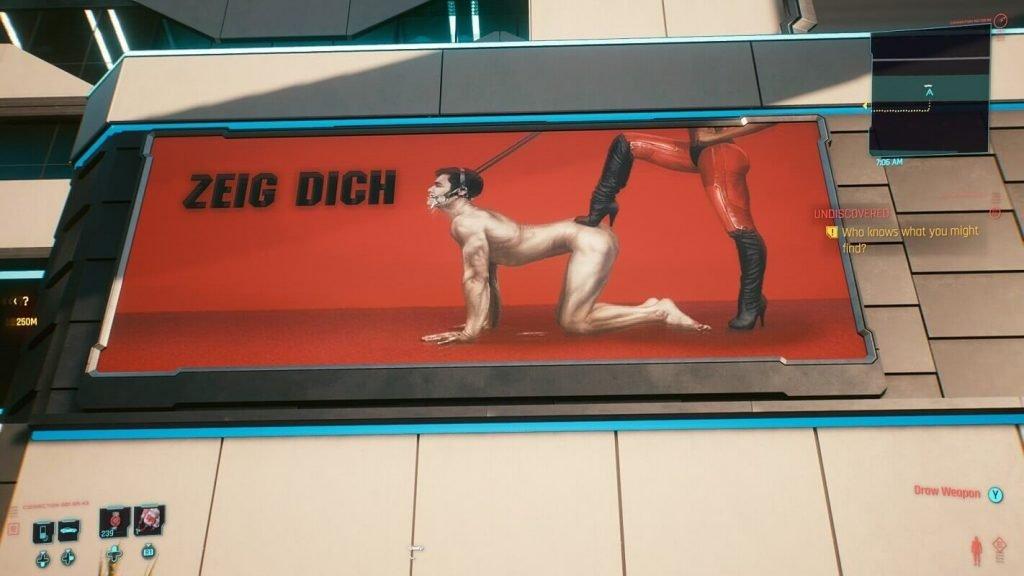 pubblicità sesso cyberpunk 2077