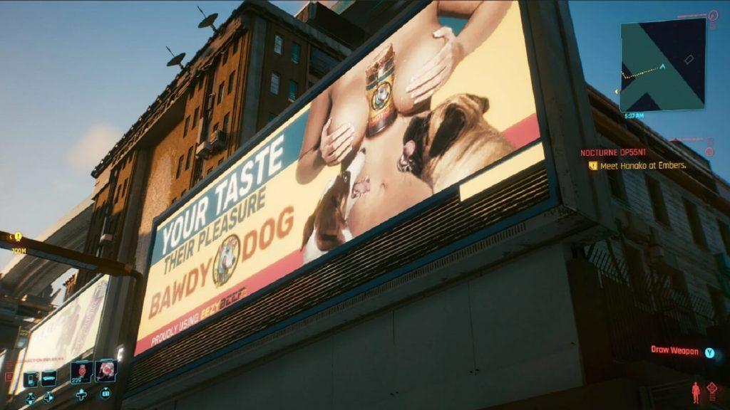 pubblicità hard cyberpunk 2077